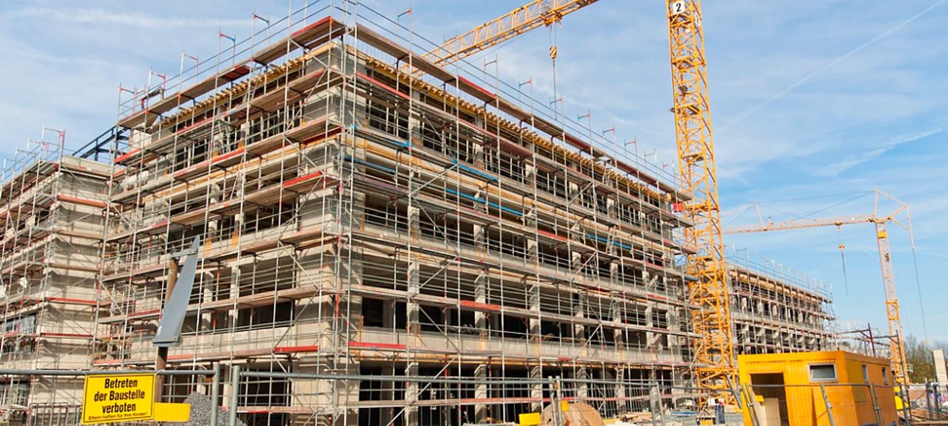 constructing building