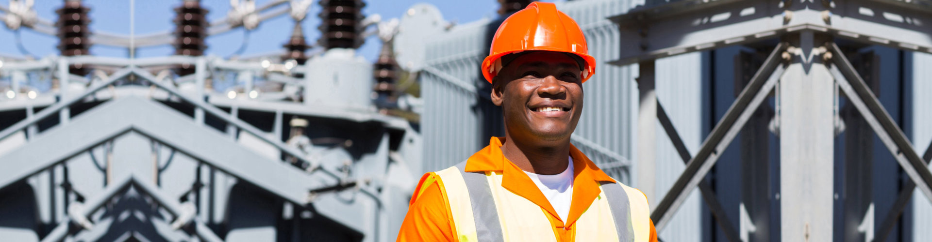 electrical engineer working in substation