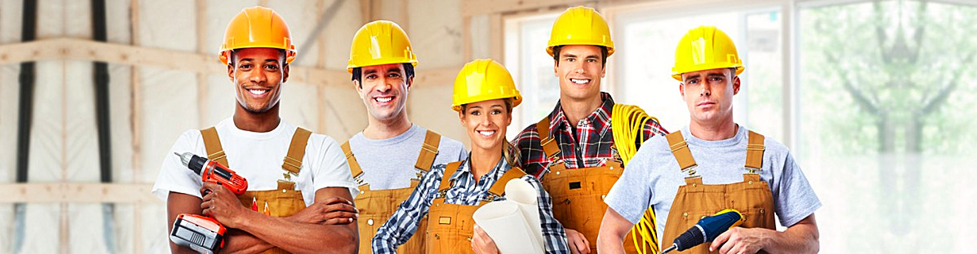 group of construction worker are smiling